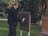 Российский депутат в Краснодаре закрасил черной краской памятную доску Гарегину Нжде