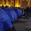 Митингующие установили палатки в центре Тбилиси: Требуют досрочных парламентских выборов