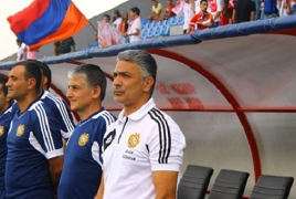 Armenia coach offers to resign after 9-1 defeat to Italy