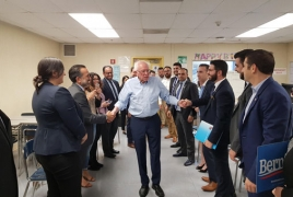 Armenian community meet with Senator Bernie Sanders