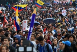 Colombian president orders curfew in Bogota amid protests