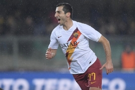 Mkhitaryan's last-minute goal clinches Roma win over Verona