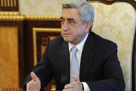 Сержу Саргсяну предъявлено обвинение в хищении в особо крупных размерах