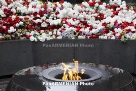 Armenia leaders visit Genocide memorial