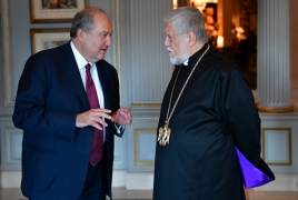 Armenia President, Cilicia Catholicos discuss situation in Lebanon