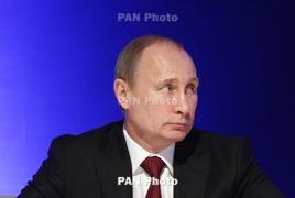 Путин поздравил президента Армении с Новым годом