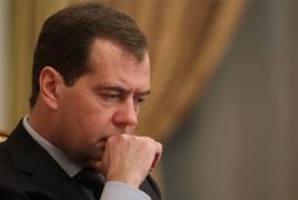 Russian PM Dmitry Medvedev resigns