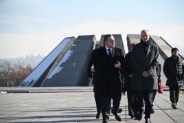 Dutch Foreign Minister visits Armenian Genocide Memorial