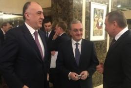 Armenian, Azerbaijani Foreign Ministers head into 2nd day of talks