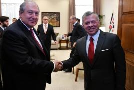 King of Jordan will visit Armenia on February 10