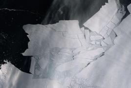 Iceberg bigger than Yerevan breaks off a glacier in Antarctica