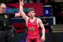 Armenian freestyle wrestler claims bronze at European Championships