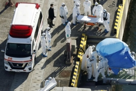 Passengers leaving quarantined cruise ship Diamond Princess