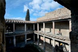 "Three ""jewel"" buildings reopen to public in Italy's Pompeii"