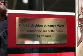 Paris KFC honors Kim Kardashian and Kanye West visit with plaque