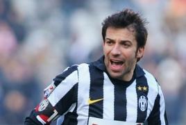 Football star Alessandro Del Piero visiting Yerevan