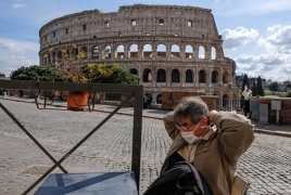 Italy reports decline in coronavirus death rate for first time in many days