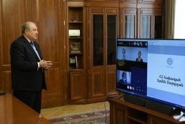 Արմեն Սարգսյանն առցանց դասախոսությունների շարք է սկսել