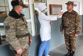 Armenian soldier's family member tests positive for coronavirus