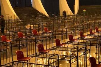Armenia transforms massive concert hall into makeshift hospital (photo)