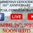 ANCC to commemorate Armenian Genocide anniv. via live broadcast