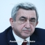 Serzh Sargsyan: When Baku resorts to arms, it'll be impossible to save every life