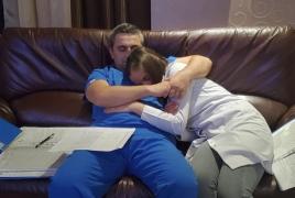 "Armenia: Newly-married doctor and nurse ""honeymooning"" in hospital"