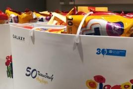 50 писем, 50 улыбок: Дети из Котайка и Иджевана получили планшеты