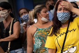 Brazil sets record with 1,349 daily coronavirus deaths