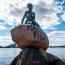 Վանդալիզմ Կոպենհագենում. «Ռասիստ ձուկ»՝ Ջրահարսի արձանի վրա