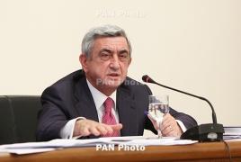 Սերժ Սարգսյան. Ալիևները զինադադար կմուրան