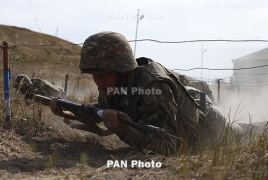 Three Armenian troops wounded in Azerbaijan's shooting