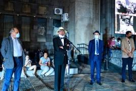 Ազնավուրի հրապարակում բացվել են Հրանտ Մաթևոսյանի և Աղասի Այվազյանի աստղերը