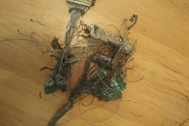 Armenia unveils photos of debris from downed Azerbaijani drones
