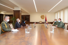 Armenian Defense Minister, Iranian envoy meet in Yerevan