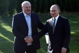 Путин поздравил Лукашенко с победой на выборах президента