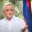 Serzh Sargsyan: Karabakh issue can be resolved through