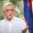 Саргсян: Карабахский конфликт может быть урегулирован только путем международного принуждения