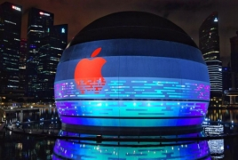 World's first Apple Store that sits on water opening in Singapore