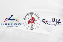 Три армянские оппозиционные партии проведут общенациональный митинг