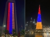 Бурдж-Халифа в Дубае и небоскреб в Абу-Даби окрасились в цвета флага Армении