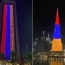 Burj Khalifa, ADNOC building light up in Armenian flag colors