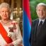 Елизавета II поздравила президента Армении с Днем независимости