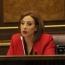 Депутат правящей партии Армении сложила мандат из-за принципиальных разногласий