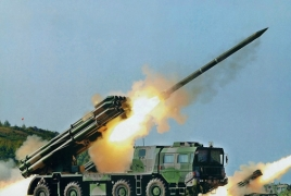 Azerbaijan firing from 300mm or larger caliber rocket systems