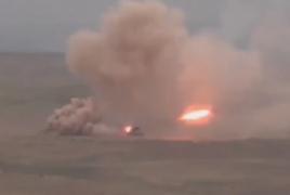 Azerbaijan employed TOS heavy artillery systems overnight
