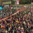 Thousands of Armenians demonstrate outside Azerbaijan Consulate in LA