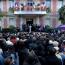 François Hollande attends rally supporting Armenians of Karabakh