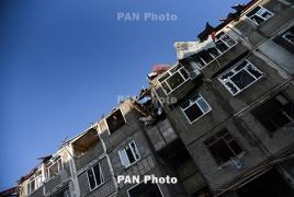 Stepanakert under Azerbaijan's intensive rocket fire