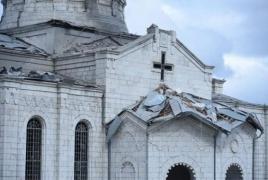Azerbaijan strikes Ghazanchetsots Cathedral in Shushi, a Karabakh landmark